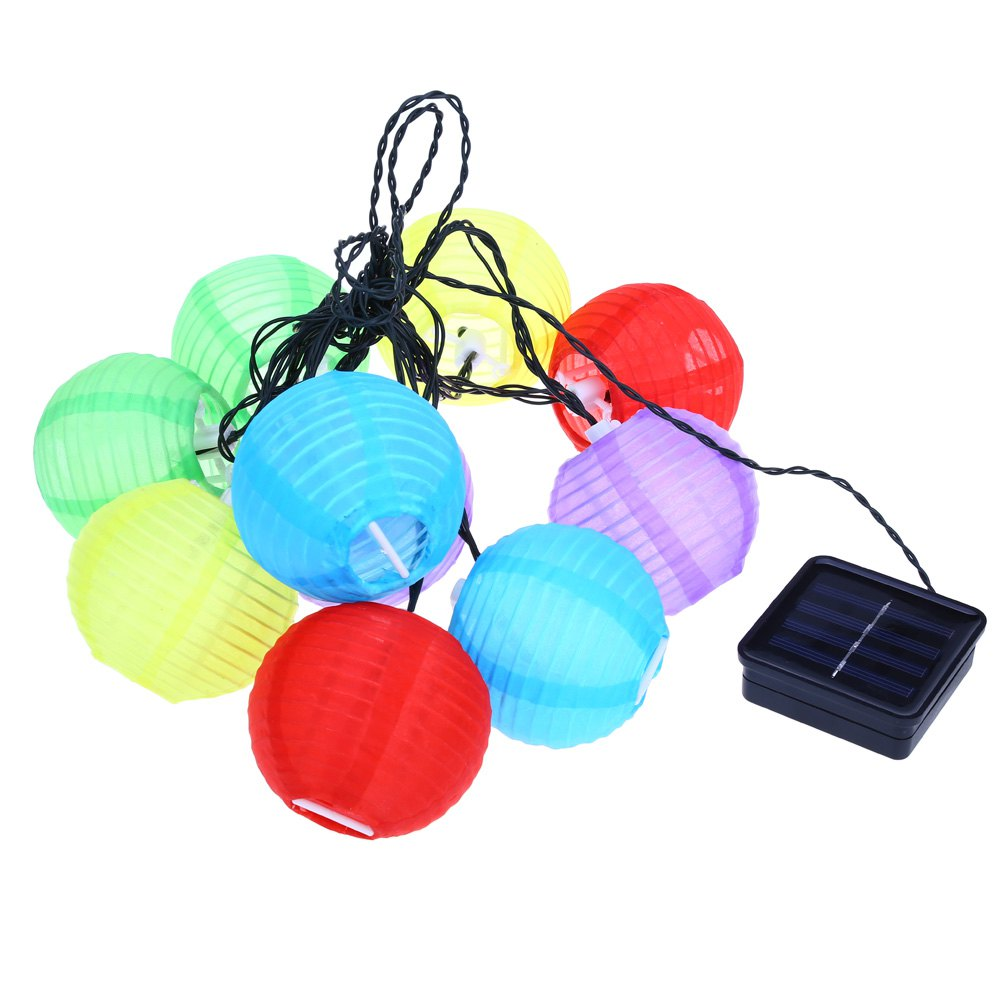 IP44 Fairy Lights Mini Lantern Design Solor Powered Multi Color Nylon LED String Patio Lights Rechargeable Battery Waterproof(China (Mainland))