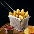 Hot Sale Chips Mini Fry Baskets Stainless Steel Fryer Basket Strainer Serving Food Presentation Cooking Tool