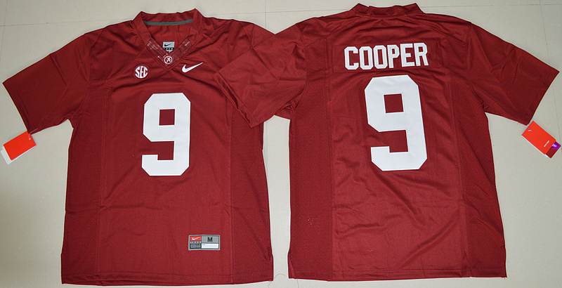 New Arrival High Quality Nike Alabama Crimson Tide Amari Cooper 9 College T-shirt Limited Jersey - Crimson Size S,M,L,XL,2XL,(China (Mainland))