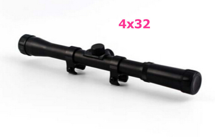 Cheap Sale 1 piece Black 4X32 Anti Dust Caps Rifle Sniper Scope Riflescopes 20mm Ring Mounts(China (Mainland))