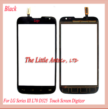 10pcslot  Touch Screen  For LG Series III L70 D325 Digitizer Glass (dual sim card) Black White  Freeshipping+tracking code
