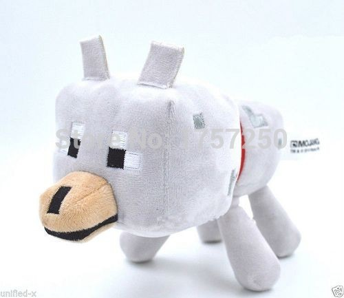 2015 New 22cm Minecraft Wolf Plush Toys High Quality Minecraft Wolf Plush Dolls Stuffed Animals Toys Kids Toys Birthday Gifts(China (Mainland))
