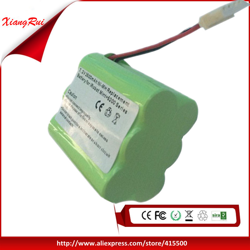 Replacement Battery For Mint plus 5200 5200C And For Robot Braava 380t 2500mAh 7.2V NI-MH New(China (Mainland))