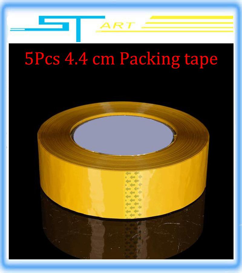 5Pcs Yellow masking tape carton sealing scotch tape packing Plastic sheets Packing tape 4.4cm packing Adhesive tape Wholesale(Hong Kong)