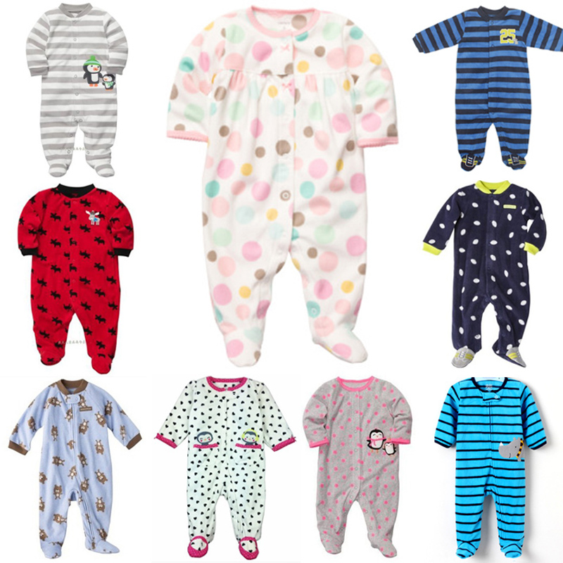 2016 New baby boys girls spring winter Romper Original Carter's 0-9M Long Sleeve Jumpsuit Pajamas newborn toddler clothing - rebecca lin's store