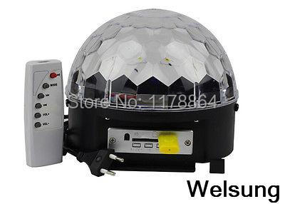 18W RGB LED Stage Lights Crystal DJ Lighting with MP3 function for Party,Disco(China (Mainland))