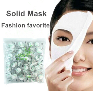 Makeup Sale Hot Unisex Whitening 10pcs Skin Care Diyl Facial Face Compressed Mask Paper Tablet Masque Treatment free Shipping(China (Mainland))