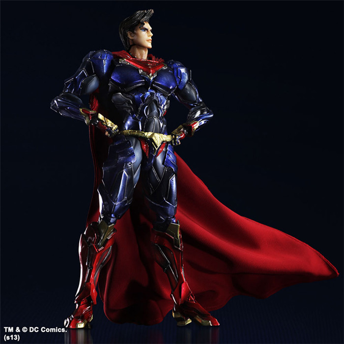 Batman v Superman Dawn of Justice Superman Action Figure DC Super Heroes PVC 25CM Collection Model Kids Toy T519(China (Mainland))