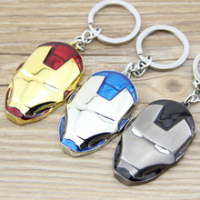 1PCS Marvel Super Hero The Avengers Iron Man Mask Metal Keychain Pendant Key Chain chaveiro llaveros KT109(China (Mainland))