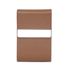 teemzone - ( Leather + Stainless Steel Material) Uniqe Design Pocket Business Card Holder with Magnetic Clap Closure J5(China (Mainland))