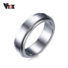 VNOX 6 ММ Spinner Кольцо Мужчины Ювелирные Изделия Из Нержавеющей Стали 316L Два Тона Посеребренные Спиннинг Кольцо Оптовая(China (Mainland))