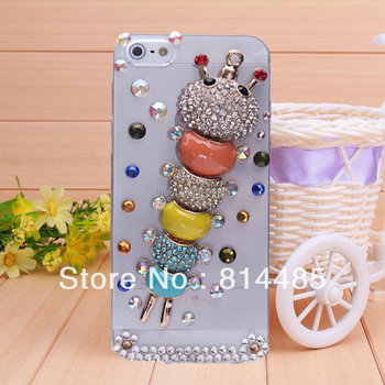 The diamond  case for iphone 5 5s diamond cell  protect shell phone sets protective  case .
