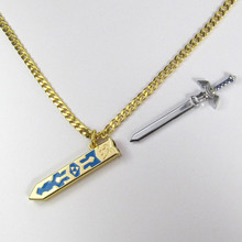 High Quality Jewelry Retail Legend of Zelda Removable Master Sword Long Chain Pendant Necklace For Women
