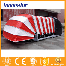 Automatic solar power retractable steel structure car garage IT211(China (Mainland))