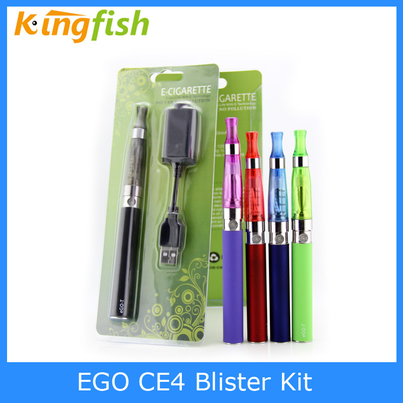 100pcs/lot,DHL free shipping Ego ce4 electronic e cigarette ce4 blister kit with ego t battery ce4 clearomizer 8 colors(China (Mainland))