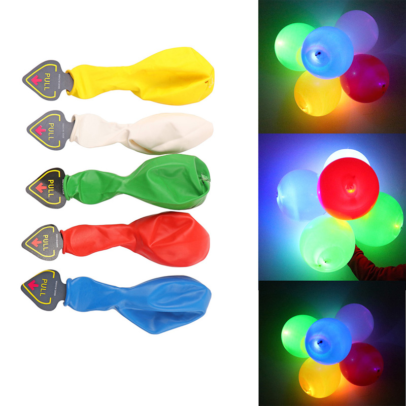 5pcs Colorful Balloons with RGB LED Flashing Light for Wedding Newyear Christmas Birthday Party Decor(China (Mainland))
