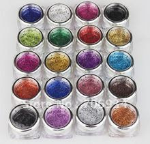 20pcs/lot 19 color Pro Body Painting Tattoo Glitter Diamond Santorum For Body Art(China (Mainland))