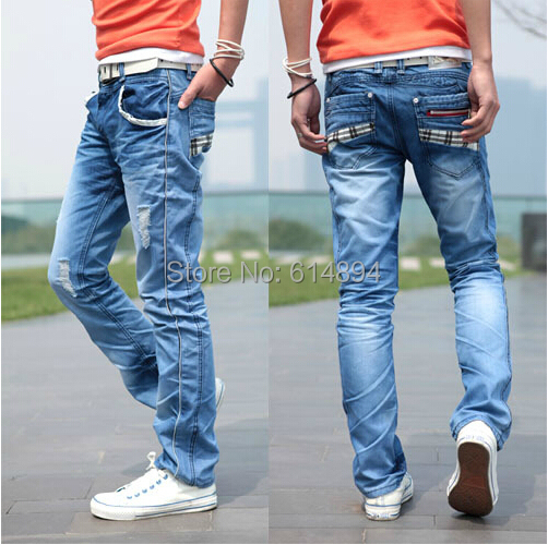High quality Fashion after pocket grid design The four seasons can wear washed men s casual