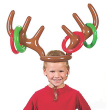 Children Elk Horn Inflatable Toys Kids Moose Antlers Toys Cute Deer Head Shape Ferrule Game For Outdoor Games Christmas Decor(China (Mainland))