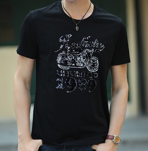 [ANYTIME] Brand Bike Fashion Short-sleeved Designer Tops & Tees Casual T-shirts, Men's Clothing Stylish t shirt PEDIDO CAMISETAS