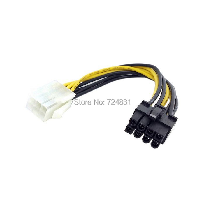 CY PCI-E PCI Express 6 Pin Male to 8 Pin Female Video Card Extension Power Cable(China (Mainland))
