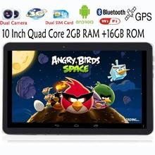 Original 10 inch 2G 3G Phone Call Quad core Android Tablets pc 2GB 16GB Dual sim card Smart Tab MiniPad pc tablet 7 8 9 10.1(China (Mainland))