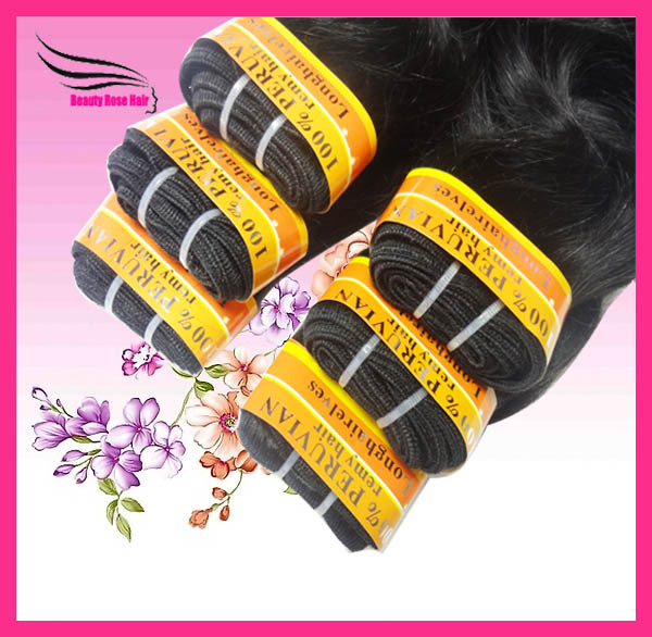 Peruvian HumanHair Extension,Body Wave, machine Hair Weft, Mix Length 12-28inch, 6pcs/lot, DHL Free Shipping
