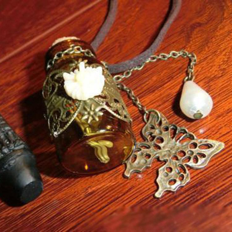 vintage harry potter magic bottle opal pendant necklace