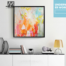 Buy Modern canvas wall art acrylic decorative pictures abstract hand painted canvas oil paintings wall decor living room wall for $25.42 in AliExpress store