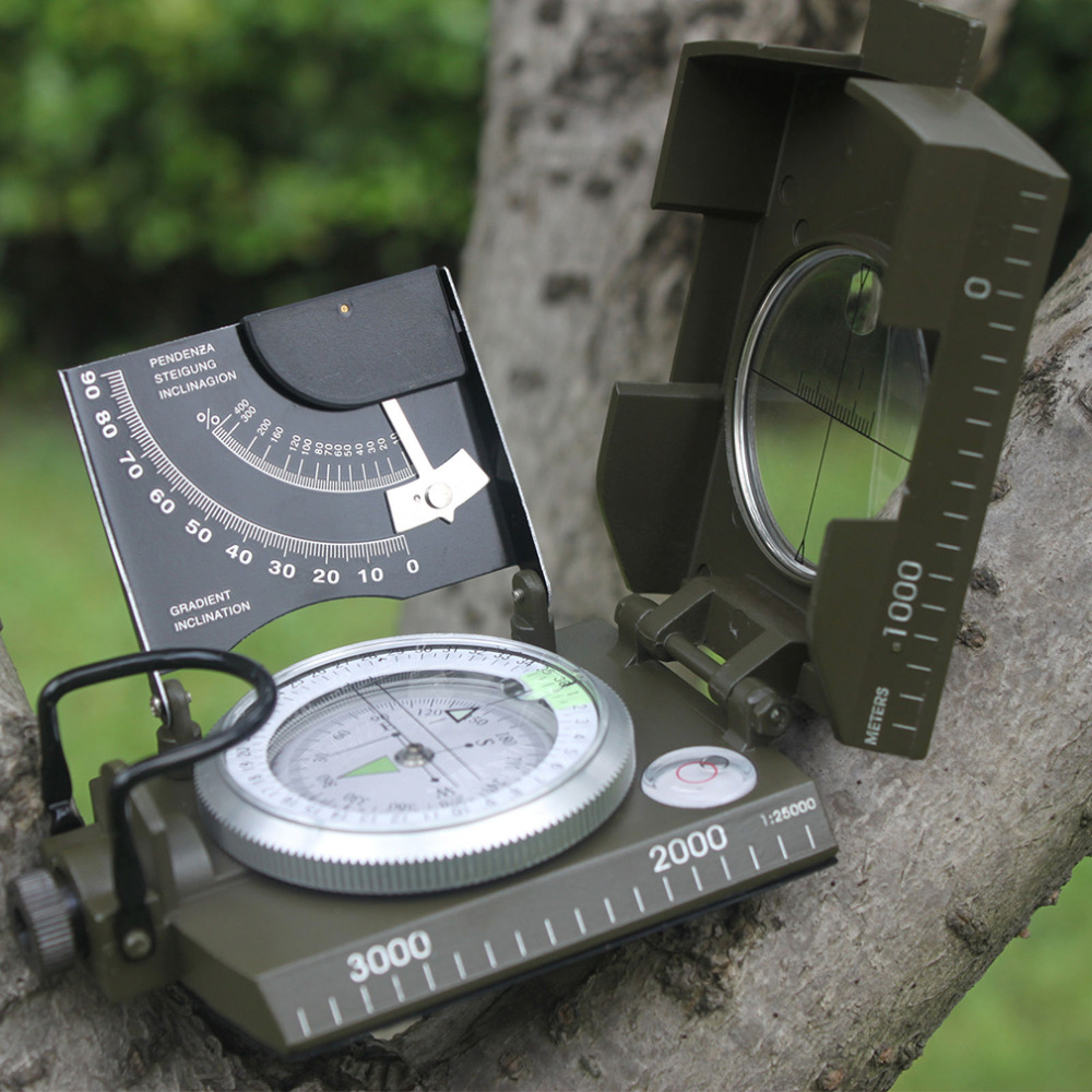 newest Professional compass Military Army Geology Compass Sighting Luminous Compass for Outdoor Hiking Camping free shipping(China (Mainland))