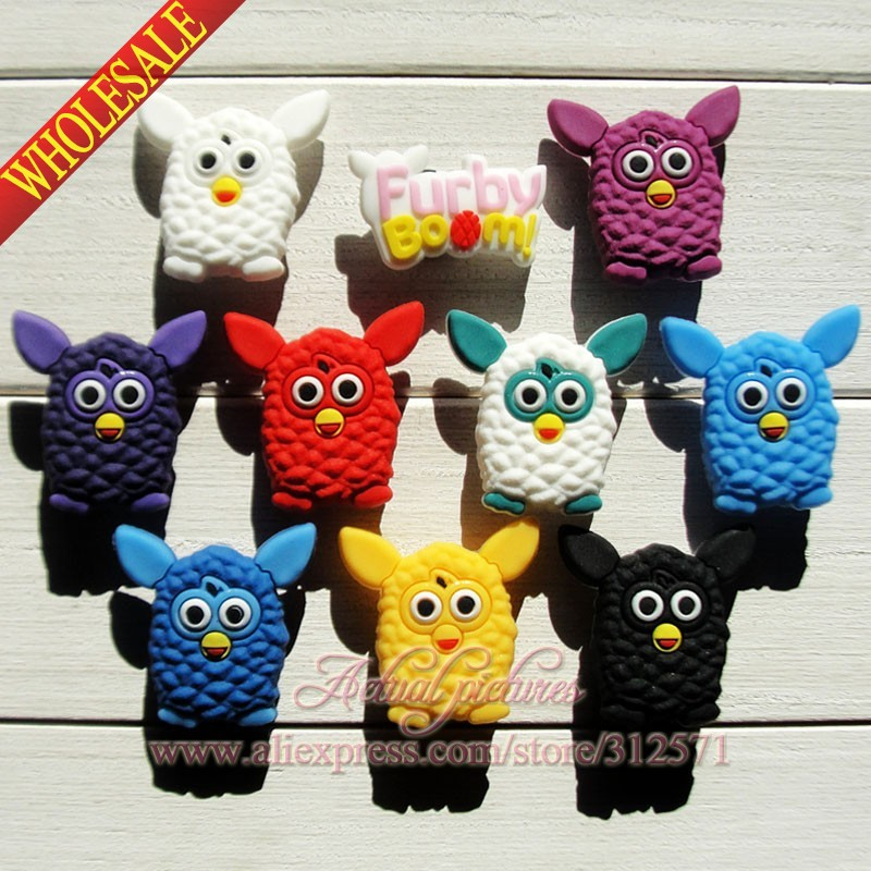 40Pcs  Furby  Boom PVC shoe accessories/shoe charms For Silicone Wristbands&amp;shoes with holes,shoe buckle,fit for kids<br><br>Aliexpress