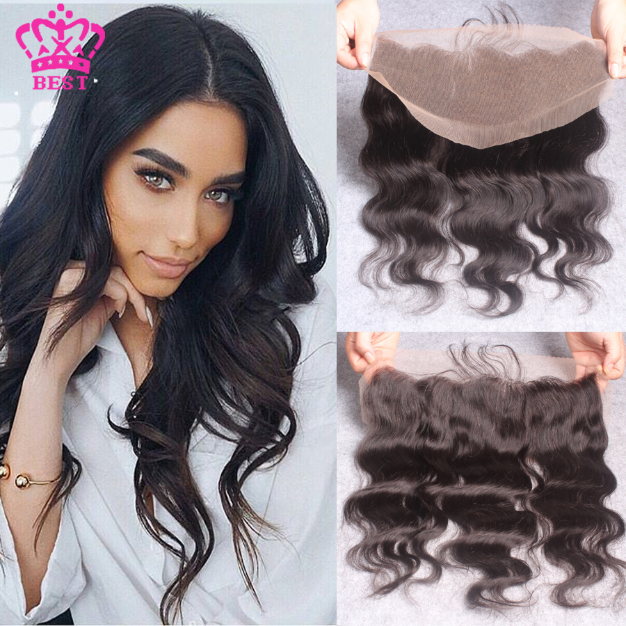 Brazilian Body Wave Virgin Human Hair Lace Frontal 13x4 Lace Frontal Closure Ear To Ear Full Lace Frontal Closure With Baby Hair
