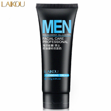 Buy LAIKOU Men Marine Oil-Control Deep Cleansing Scrub Skin Care Cleanser Moisturizing Acne Blackhead Face Care Exfoliating Cleanser for $4.49 in AliExpress store