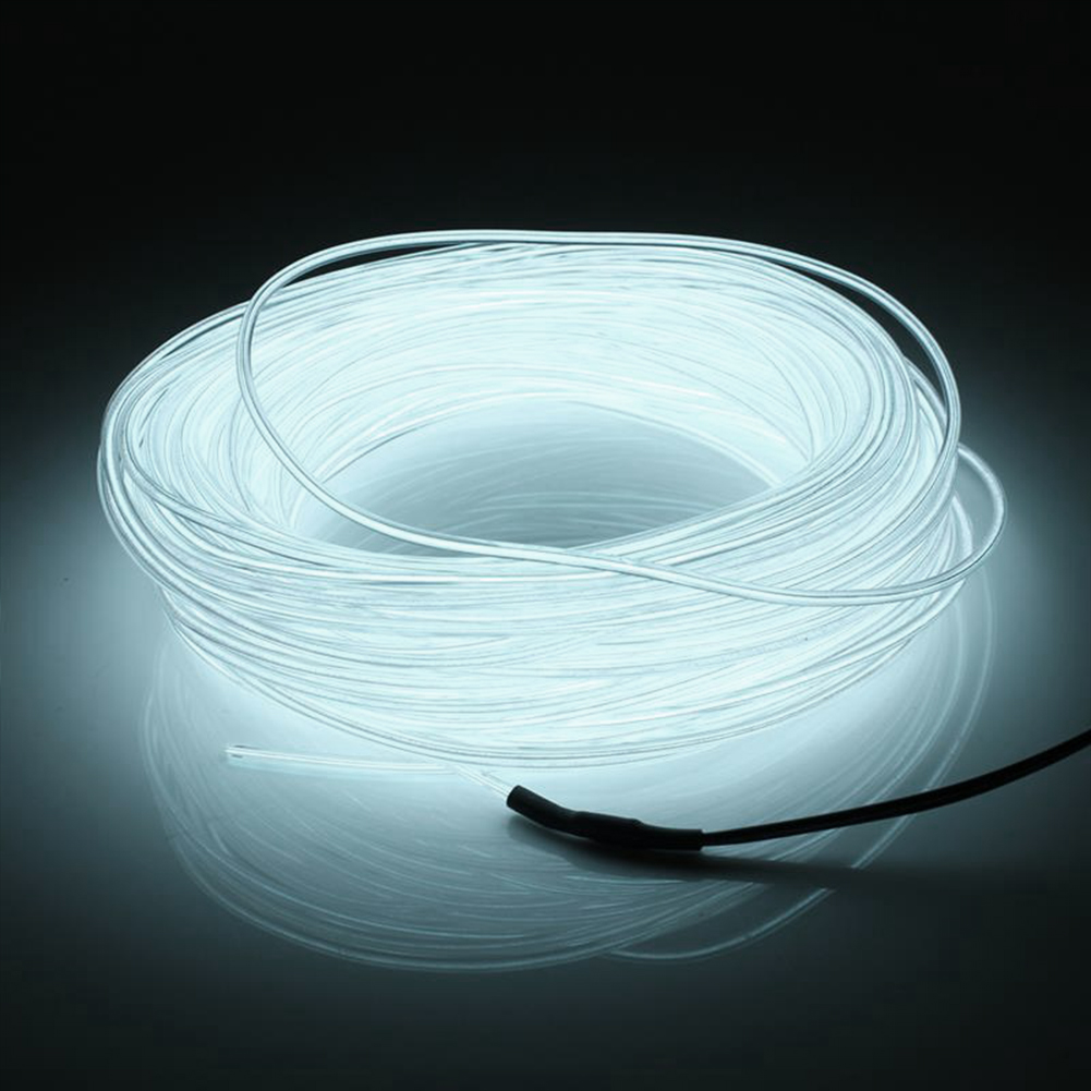 Waterproof Flexible Neon LED Light EL Wire Strip Tube for Car Dance Party +Controller For Indoor and Outdoor Lighting 3M(China (Mainland))