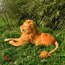 Peluche de 110 cm de la felpa león simulación muñeca de juguete gran regalo envío gratis w312