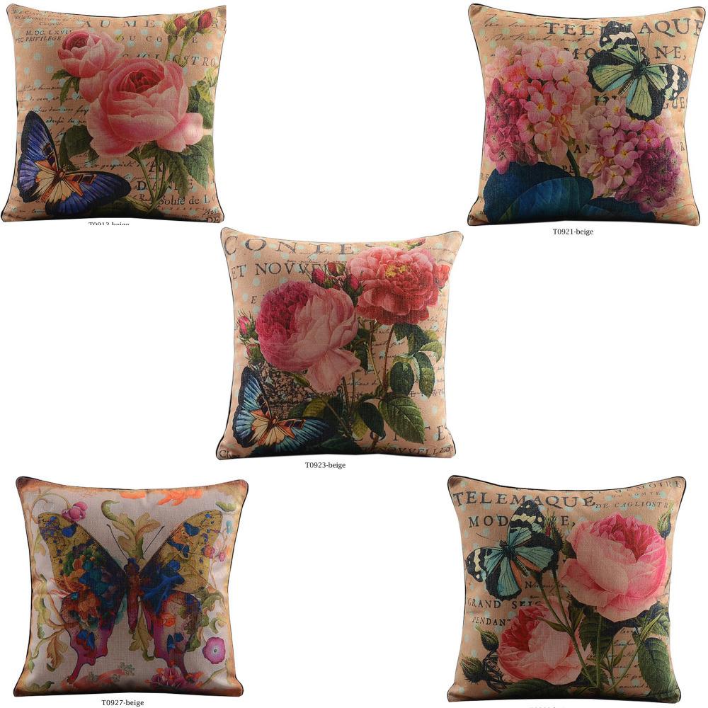Free-Shipping-Cushion-Cover-Set-Home-Decorative-Throw-Pillows-Cotton-Linen-Pillowcase-Flower ...