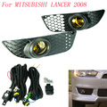 Fog light for MITSUBISHI LANCER 2008 fog lamps Clear yellow Smoke Lens Bumper Fog Lights Driving