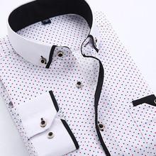 Men Dress Shirt 2017 Spring New Arrival Button Down Collar High Quality Long Sleeve Slim Fit Mens Business Shirts S-4XL YN026(China (Mainland))
