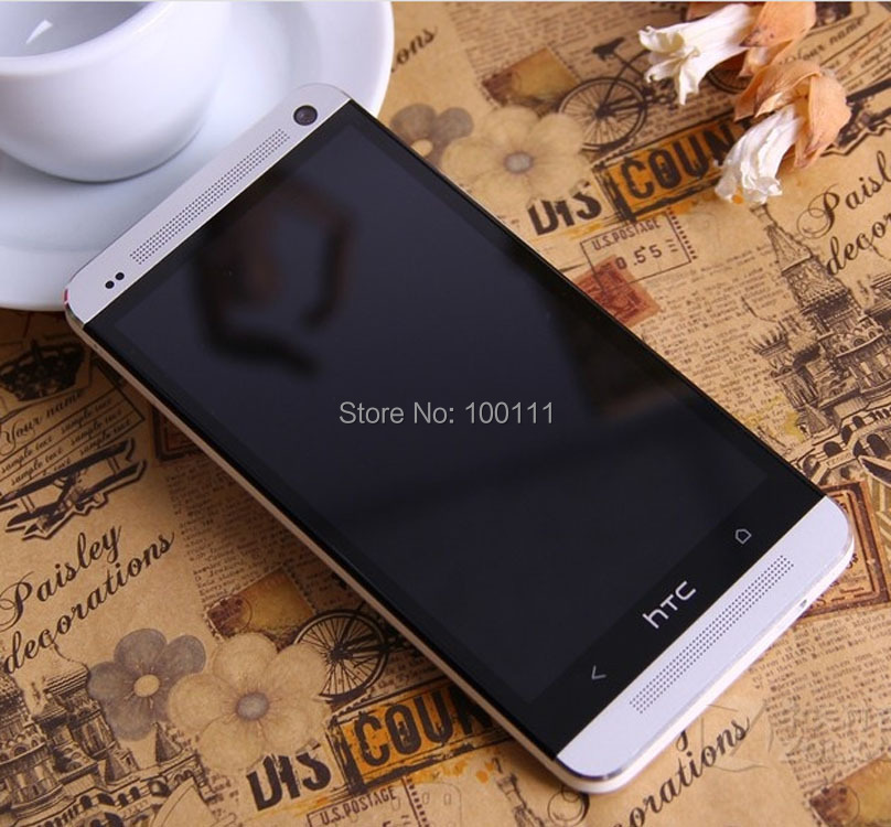 Unlocked Original HTC One M7 Cell Phone With Android Quad Core 2G RAM+32G ROM Refurbished / Free DHL-EMS Shipping(Hong Kong)