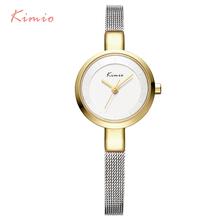 2016 New HOT Kimio Women's watches Stainless Steel fine mesh Quartz bracelet wristwatches women ladies dress watch with Gift Box