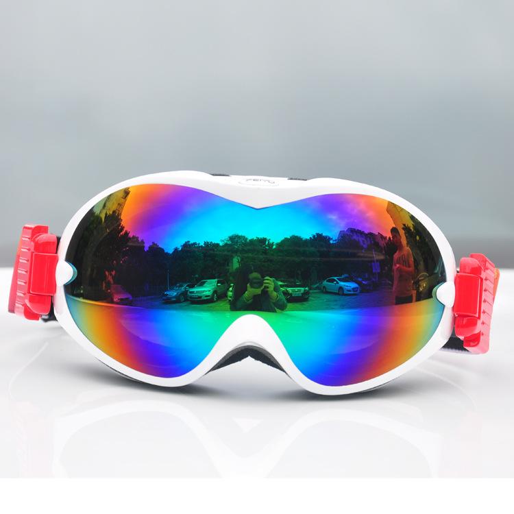 Double Ski Goggles Fog Outdoor Ski Mountaineering Goggles Myopia Cocker Single Plate Prevent Snow Glasses Free Shipping(China (Mainland))