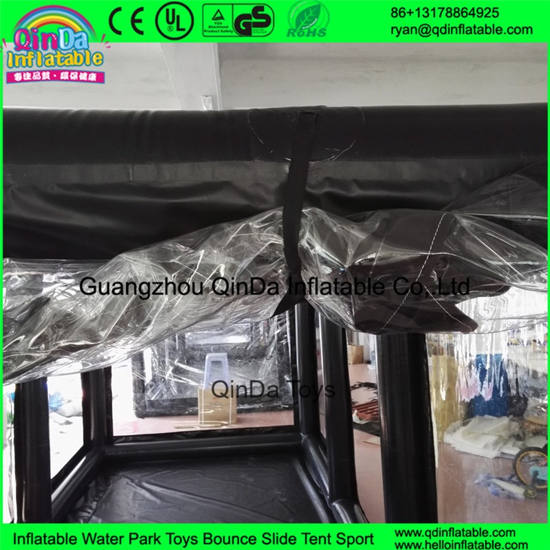 Storage car wash shelter motorcycle waterproof cover showcase for car exhibition sell inflatable transparent bubble tent