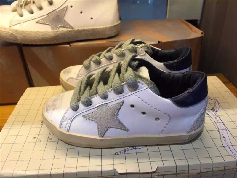 2016 Italy Brand Golden Goose Superstar Casual Shoes Men Women Genuine Leather GGDB SSTAR Shoes Smile White 100% ORIGINAL ITEM
