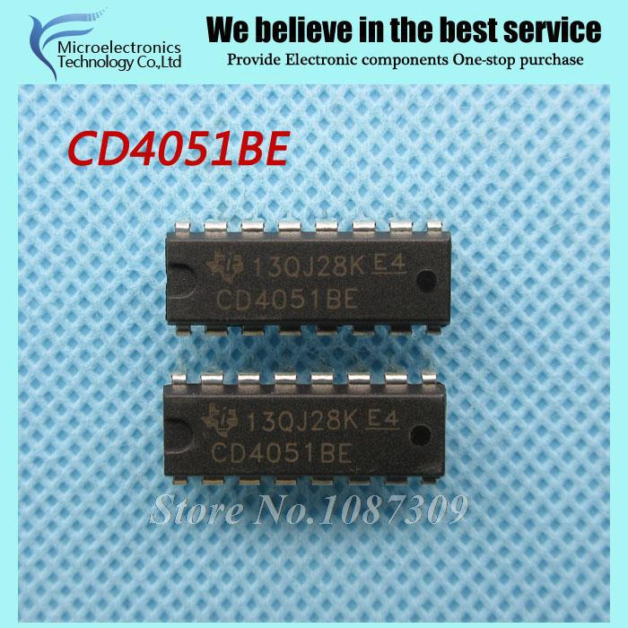 20pcs free shipping CD4051BE CD4051 HEF4051 DIP-16 Multiplexer Switch ICs 8-Channel Analog new original(China (Mainland))