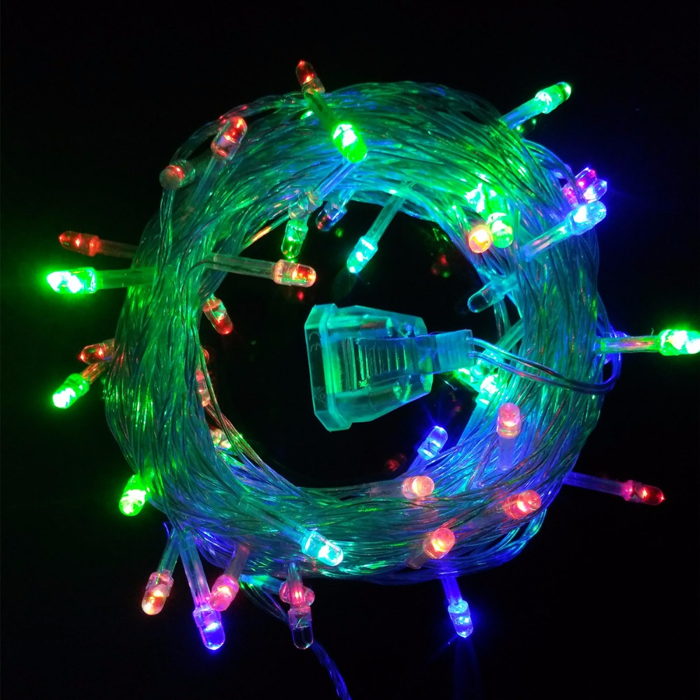 Led String Lights For Christmas Trees : 2pcs/lot 10M 50 Leds Led string lights fairy christmas lights outdoor for Christmas Tree wedding ...