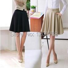 Skirts Womens 2016 Spring Summer Plus Size Skirt Casual Slim Pleated Skirts Skirts Female Fashionable Saias Femininas(China (Mainland))