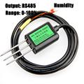 Free shipping New 1pc 0 100 Soil sensors RS485 output soil moisture sensor Temperature humidity sensor