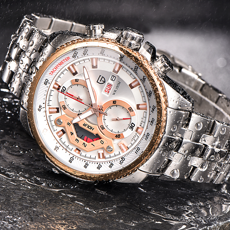 Фотография Original Luxury Brand PAGANI DESIGN Watches Men Dive Full Steel Quartz Watch Sport Military Wristwatch relogio masculino 2016