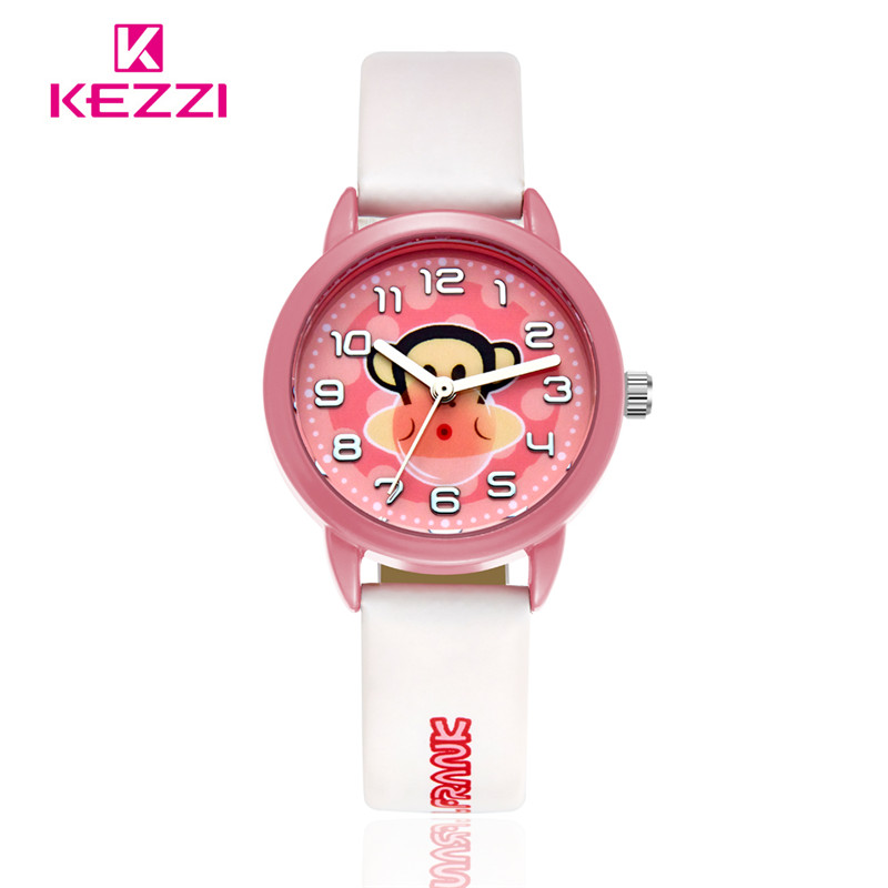2016 New Fashion Lovely Cartoon Children Watch Cute Kids Watches Paul Homme Student Quartz Leather Wristwatch Relogios