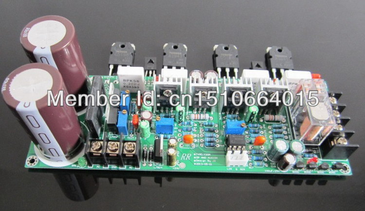 diy kit 2.0 amp tube2sa1943 2sc5200 output 2.0 amplifier board tube rear discrete tube amplifier with protected add 5532(China (Mainland))
